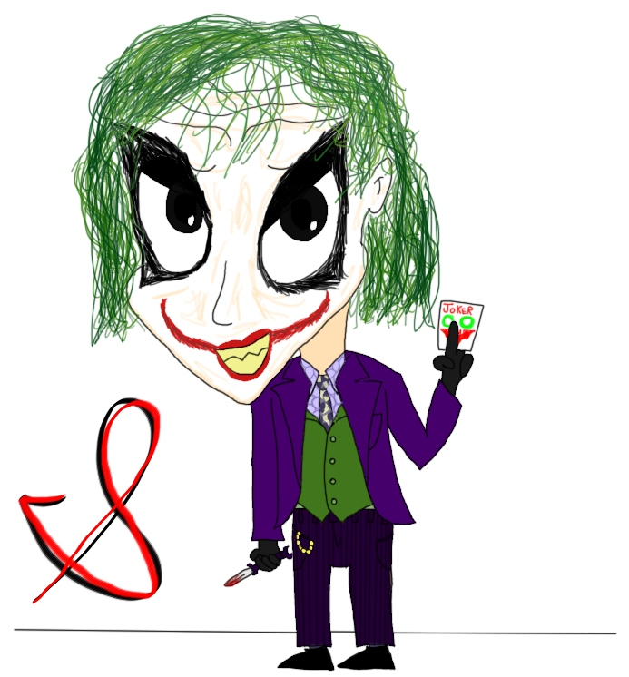 Chibi Joker (Alternate) by ChenTheIrken on deviantART