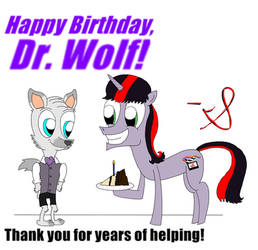 Dr Wolf Birthday Gift by ChenTheIrken