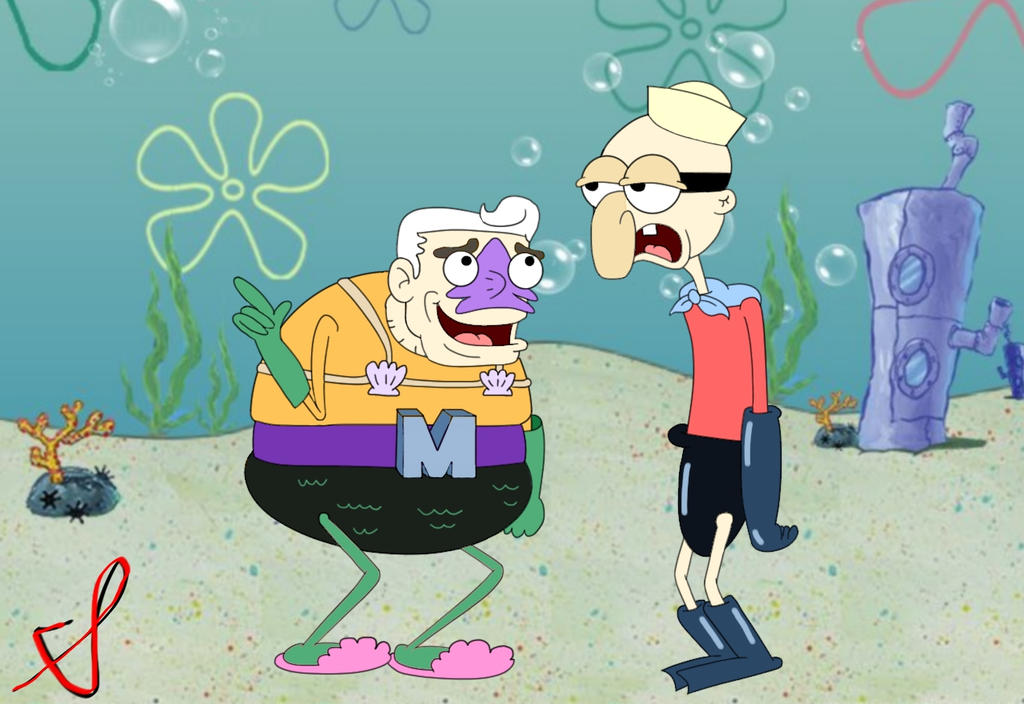 Mermaid Man and Barnacle Boy by ChenTheIrken