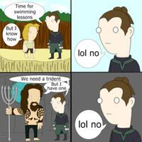 Vulko Denial (OC Aquaman Meme)