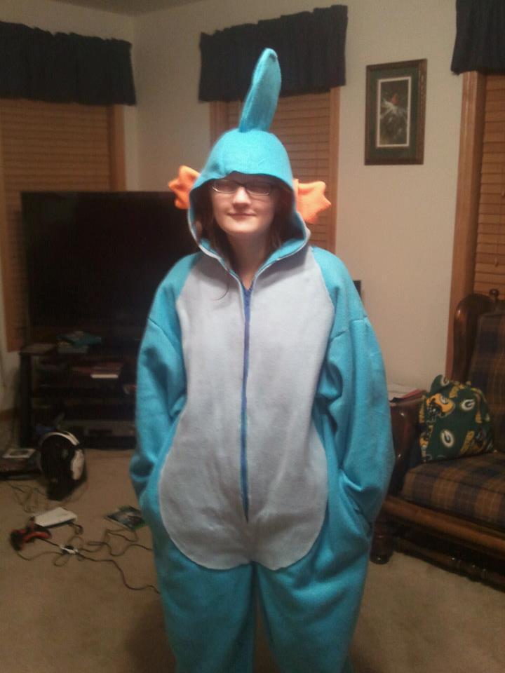 Coolest Homemade Mudkip Costume 22