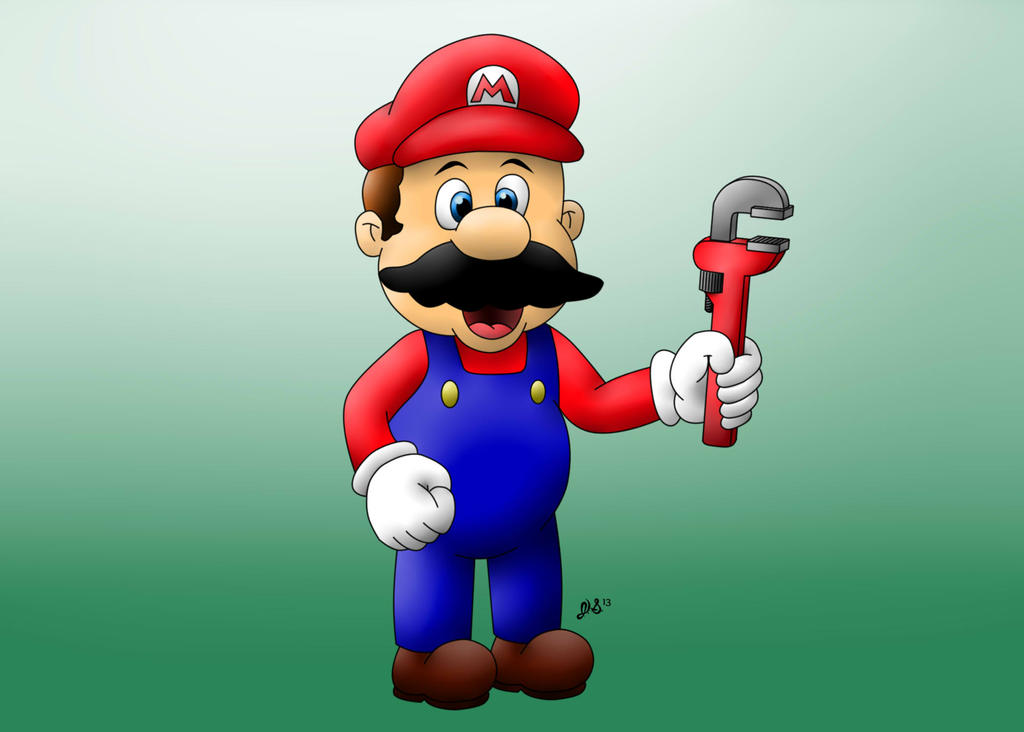 Mario color by jpsimpson81 on deviantart for What color is mario