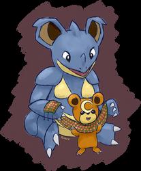 nidoqueen and teddiursa