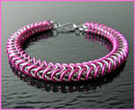 Hot Pink - Chainmaile Bracelet