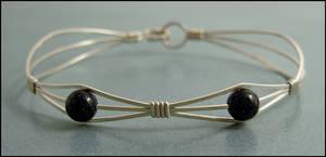 Double Blue Goldstone Bracelet
