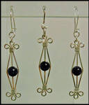 Blue Goldstone Pendant-Ear Set