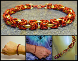 Iron Man Chainmaile Bracelet by MajorTommy