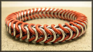 Red Stretch Chainmail Bracelet by MajorTommy