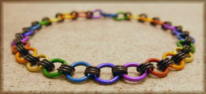 Rainbow Chainmaile Bracelet by MajorTommy