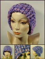 Lavender and Pink Floppy Hat by MajorTommy