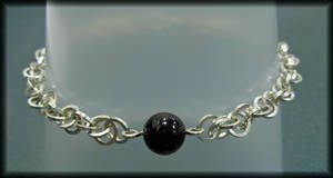 Handmade Chain With Onyx Bead by MajorTommy