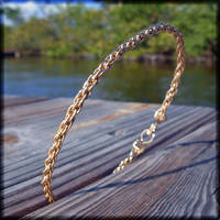 Gold Wire 'Rope' Bracelet by MajorTommy