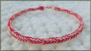 Pink Kumihimo Bracelet by MajorTommy