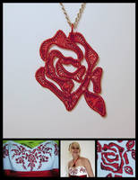 Rose Pendant for Horsemagicker by MajorTommy