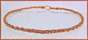 Copper Wire Kumihimo Bracelet by MajorTommy