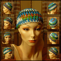 Multicolor Crocheted Cloche by MajorTommy