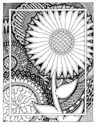 Zen Flower Line Art by MajorTommy