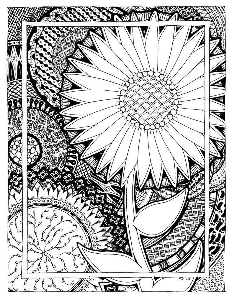 Zen Flower Line Art by MajorTommy