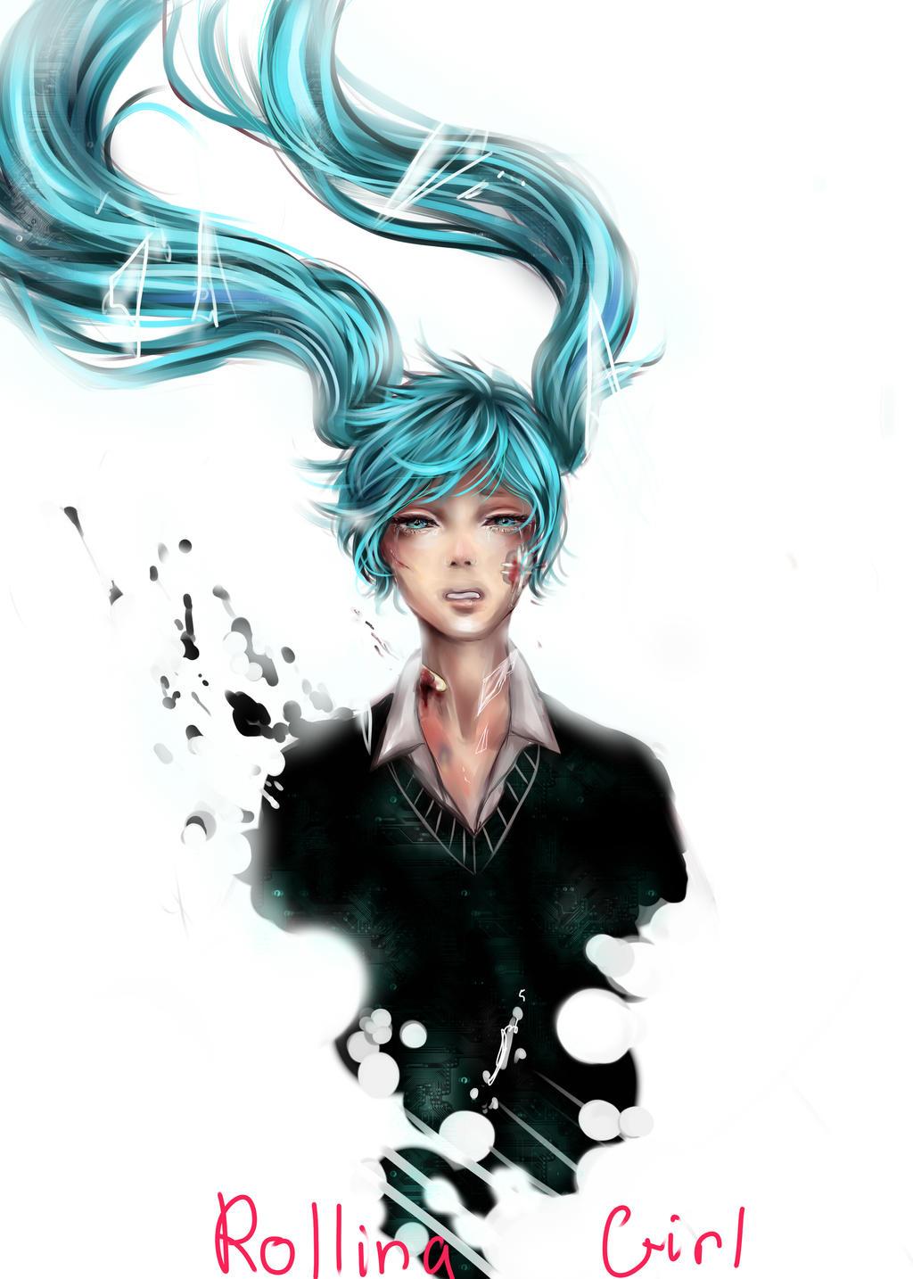 Miku: Rolling Girl by GladAnn