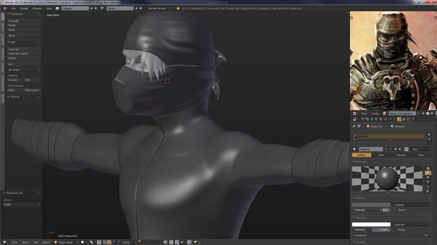 WIP Ninja Character (CG Masters Training)