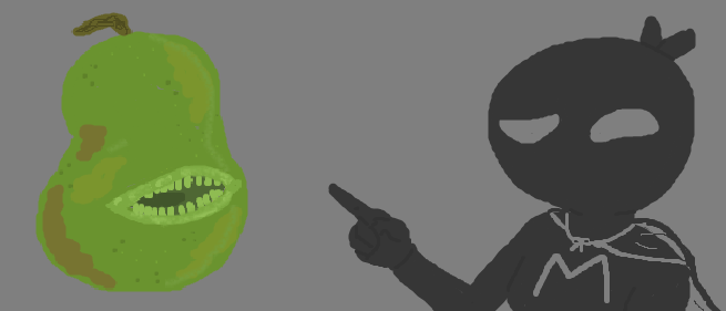 Ninja M and The Biting Pear of Salamanca by SECRET-NINJA-SUPER-M