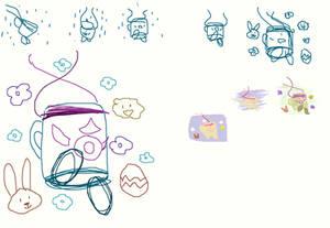 Spring Bunnymug  Sketches