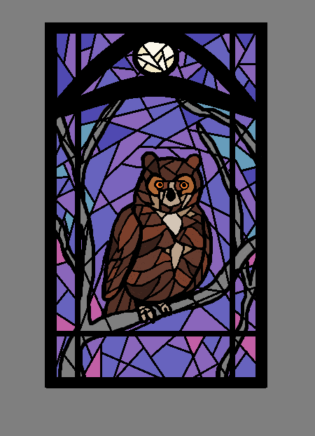 Stained-glass Owl