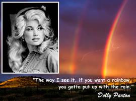 meme Dolly Parton, rainbows