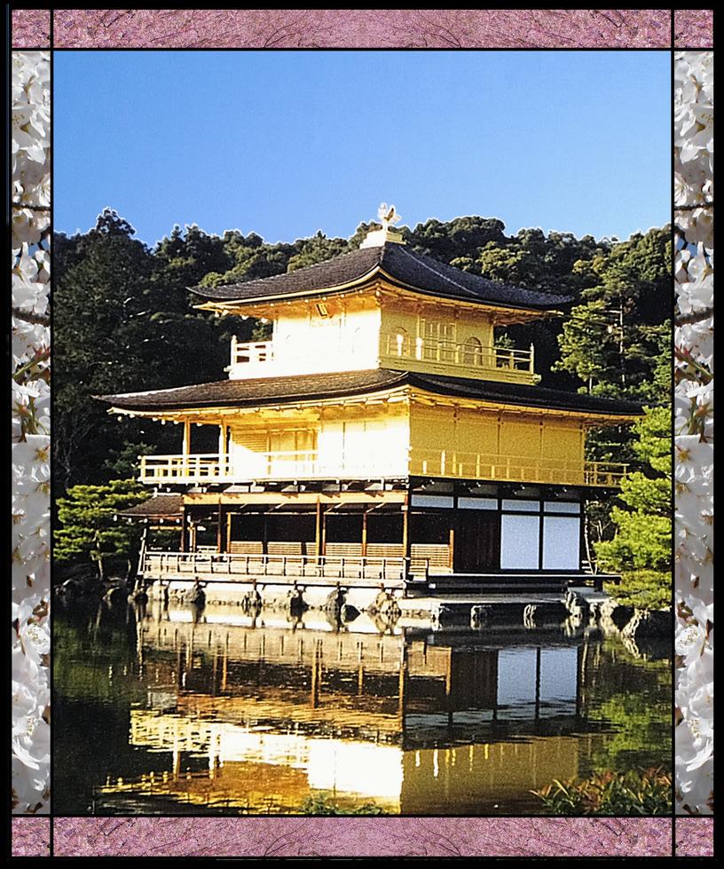 Kinkakuji Golden Pavilion by Bkmiller428