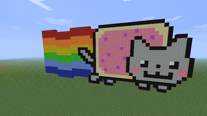 Nyan Cat Minecraft Pixel Art by MattyCook on DeviantArt
