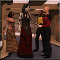 Empress Seraphina and Captain Picard by PDSmith