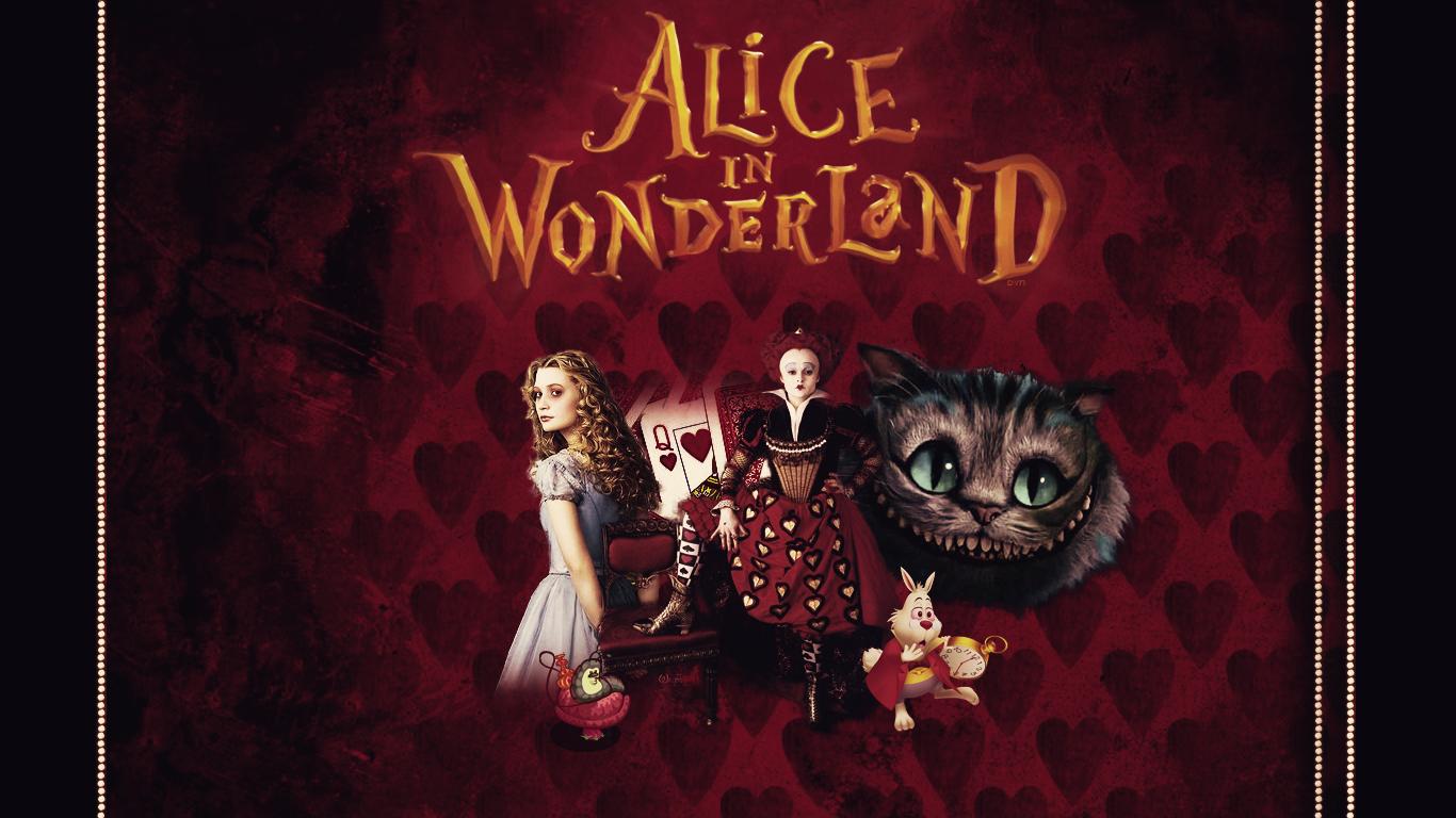 Wallpaper Alice In Wonderland by Dyn by SpaceDynArtwork