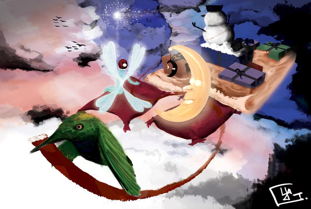 Weihnachtskarte 2013 by FractalSpoon