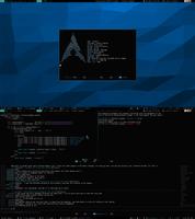 Archlinux + Awesome WM (Aug 13, 2013)