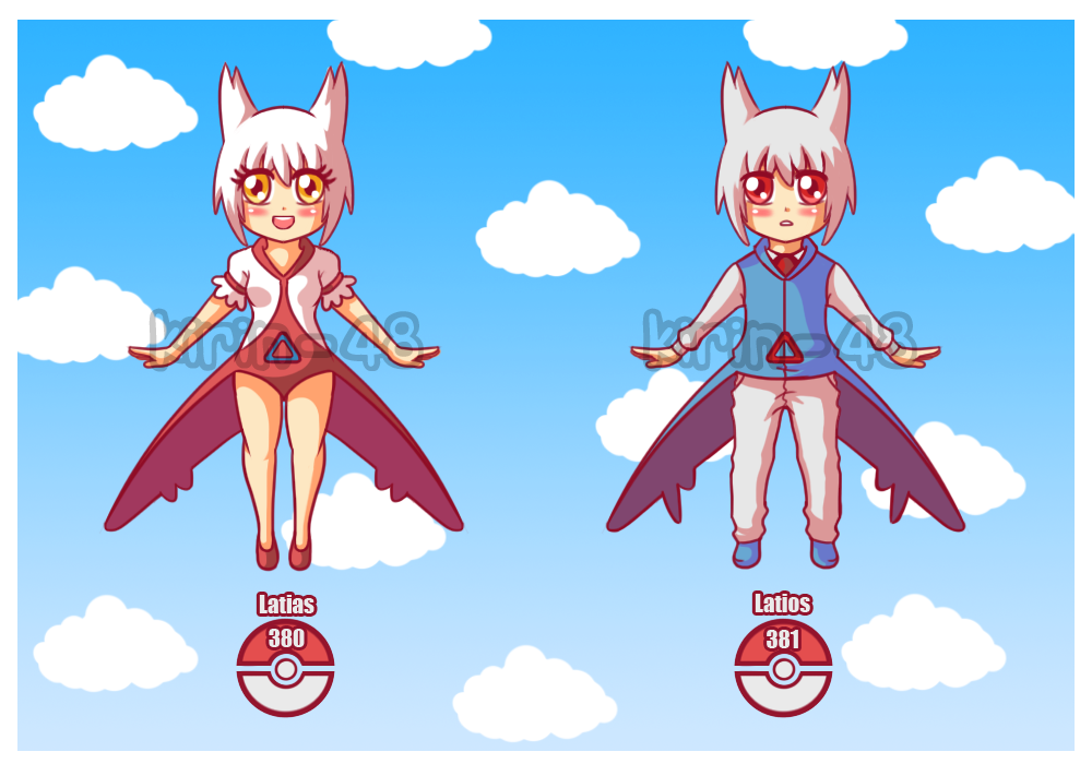 Gijinka adopt Latios and Latias OPEN by kirin-48 on DeviantArt