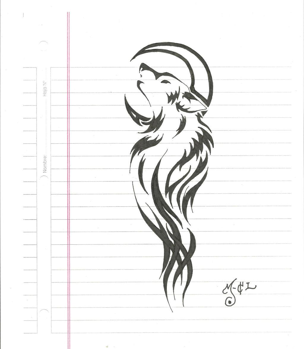 Tribal - lobo - by rextir
