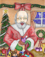 Santa Delivers Color Vers by DarkRubyMoon