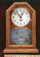Ducks clock by DarkRubyMoon