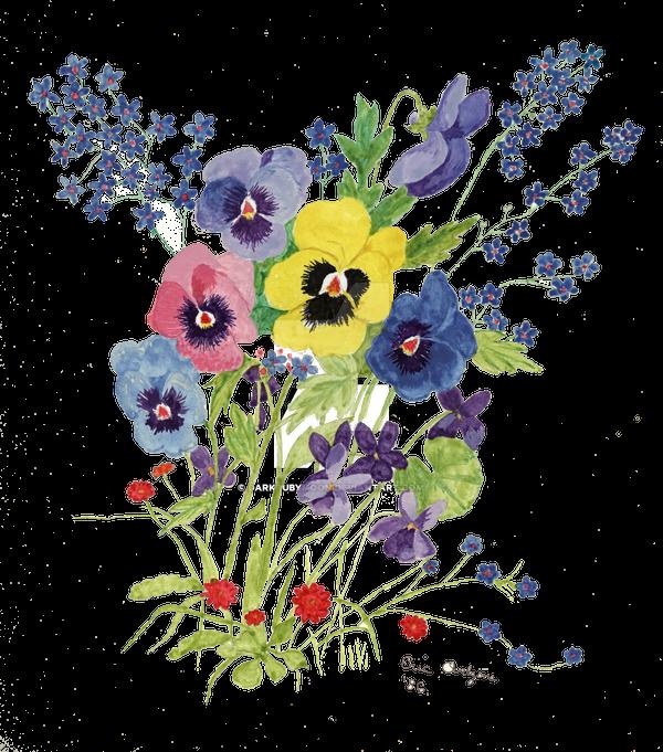 Watercolor Spring Flowers 1986 By Darkrubymoon On Deviantart