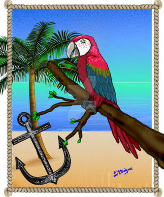 Macaw with Anchor