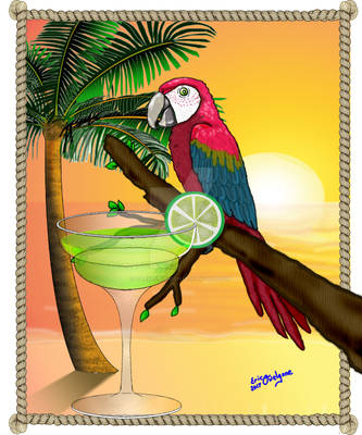 Macaw with Margarita