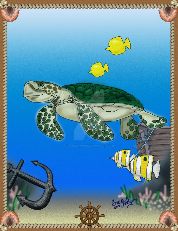 Sea Turtle by DarkRubyMoon