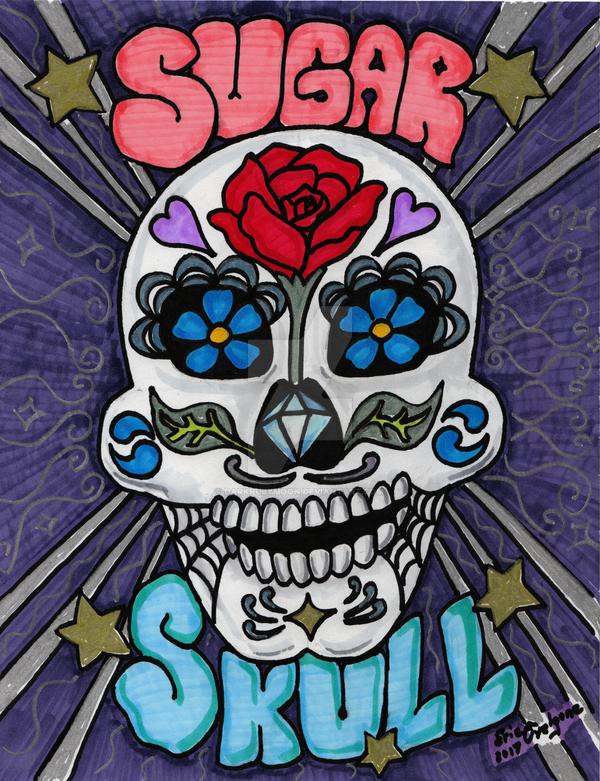Sugar Skull vers 2 by DarkRubyMoon