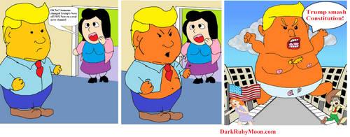 Trump Hulk by DarkRubyMoon