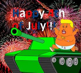 Quick 4th July Trump comic by DarkRubyMoon