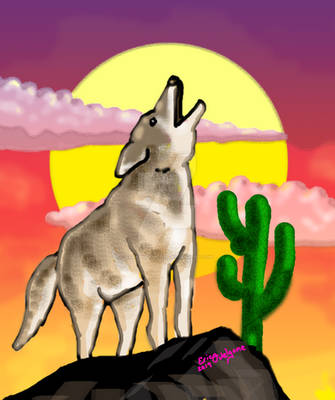 Coyote Sunset Version1