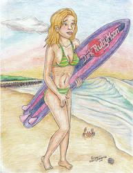 Surfer girl beach