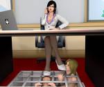 Kokoro's footslaves in office