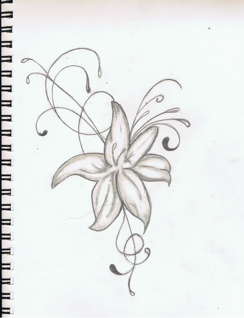 Hibiscus tattoo by littlebazinga on deviantart for Hibiscus flower tattoo sketches