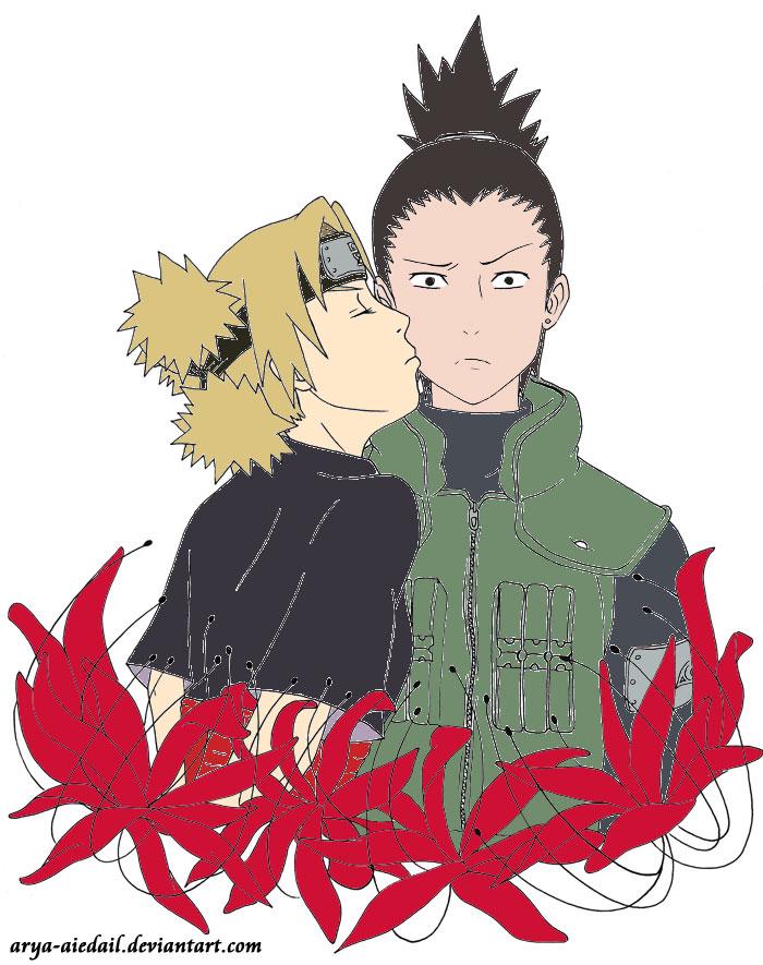 Shikamaru and Temari Kiss by love4anime on DeviantArt